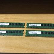 Memoria RAM 4 modulos 1GB DDR3 1066MHZ ECC