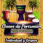 Clase de percusión africana o de percusión afro cubana