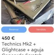 Technics Mk2 + flightcase + concorde Scratch
