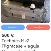 Technics Mk2 + flightcase + aguja concorde scratch