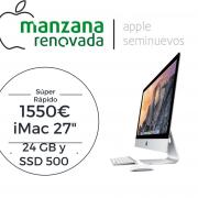 "iMac 27"" Core i5 24 Gb a 1600 y disco duro de 500 SSD"