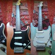 Guitarras montadas por partes, con mástiles Fender (acepto cambios)