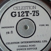 Altavoz Celestion G12T 75 16 ohm años 80