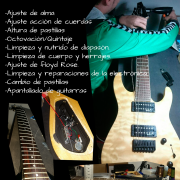 Puesta a punto de guitarras Sierra Sur Sevillana