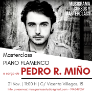 MASTERCLASS PIANO FLAMENCO a cargo de PEDRO RICARDO MIÑO en MADRID / NOV19