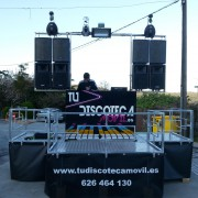 se alquila discoteca movil  con escenario movil o equipos de sonido