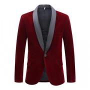 "Chaqueta The ""Xavier"" Slim Fit Velvet Blazer Suit"