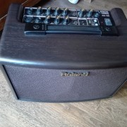 Roland ac 33 -- Boss Fs 6--cable stereo.