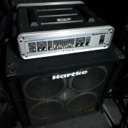 HARTKE HA3500 + Vx410 + Case Thomann - Cabezal y pantalla de bajo