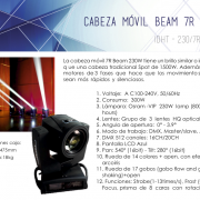 CABEZAS MOVILES BEAM 7R 230W