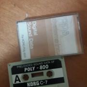 2 Cassetes korg Poly800  x2