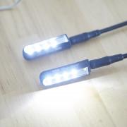 2 Lámparas LED XLR cuello de cisne.