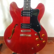 epiphone dot 335, with gibson pickups