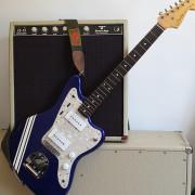 Fender Jazzmaster JM66 Cobalt Blue Racing Stripe