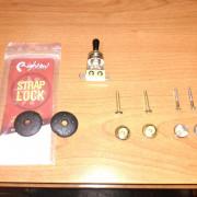 Selector Alpha 3p + StrapLock goma + Enganches guitarra con ENVÍO