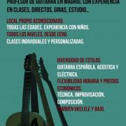 Clases de guitarra en Madrid