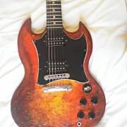 Gibson SG especial faded personalisada, Slash microfonos