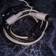 dos cables midi din 5 pines mas hembra-hembra