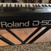 Roland D 50 vintage de los 80 teclado sintetizador