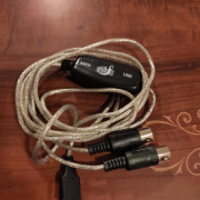 CABLE USB-MIDI ADAPTADOR CONVERTIDOR TECLADO MUSICA