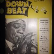 Revista musical down beat  1950 especial louis armstrong