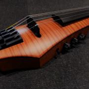 Violin electrico NS Design CR4 amber + flight case