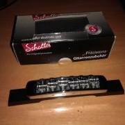 Puente Schaller STM C con rodillos adaptado para guitarra de caja