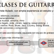Clases de guitarra en Madrid, Zona norte (Rock, Blues, Jazz, Funk...)