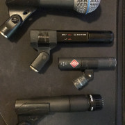 Pack 4 micrófonos shure neumann sennheiser