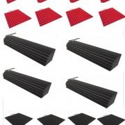 Kit súper promoción-16 paneles(8 rojos) mas 4 trampas de 100x20x20, envío incluido, Dale color a tu sala