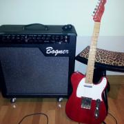 Fender telecaster  roja
