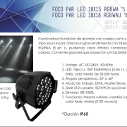 PAR LED 18 X 15 W RGBWA (5 en 1)