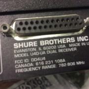 Receptor dual Shure U4D-UA