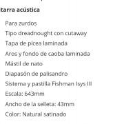 Fender cd 100 CE na zurda