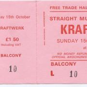 Entradas antiguas de KRAFTWERK de 1978! Una joya para enmarcar!