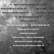 Grabación, composición, Arreglos, y sonorización