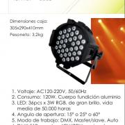 PAR LED 36 X 3 W (RGB)