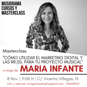 MASTERCLASS MARKETING DIGITAL Y  RR.SS PARA TU PROYECTO MUSICAL - MADRID