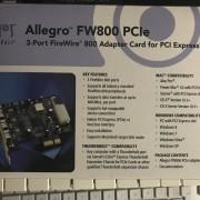 Tarjeta Sonnet Allegro FW800 PciE Mac y PC