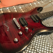 Musil Vision Deluxe (Black Cherry Burst - string through)