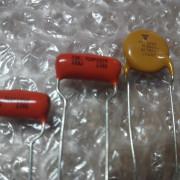 Capacitores Orange Drop para Fender Jaguar