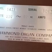 Hammond 142K en buen estado y muy completo