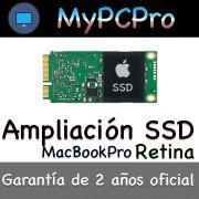Ampliación Disco Duro SSD MacBook Pro Retina 2012-2015