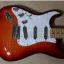 Fender stratocaster aged  cherry burst zurda zurdo