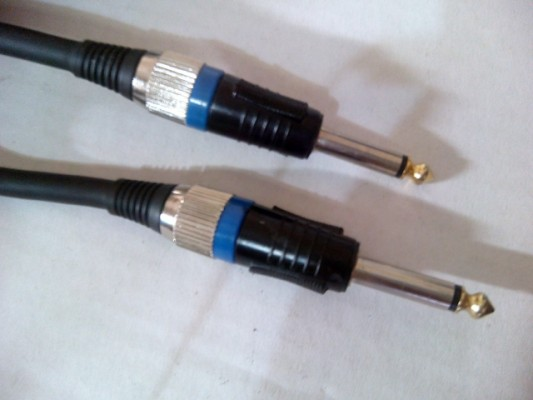Cable Jack 6,35 a Jack 6,35 mm. 6 mtrs, grosor 8mm. Marca E.D.C Music Program  Profesional