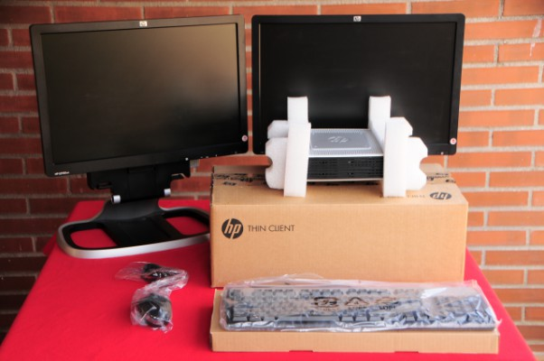 2 HP Thin Client + servidor