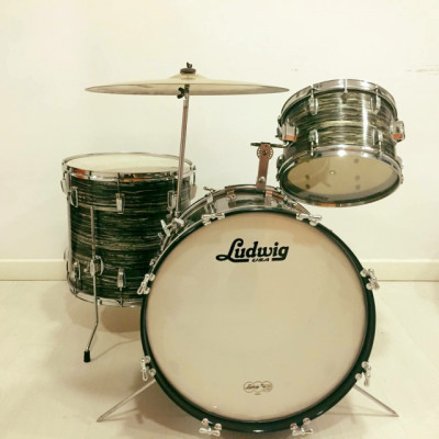 Batería 60's Ludwig Black Oyster Pearl