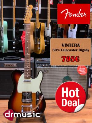 Fender Vintera 60's Bigsby Telecaster Sunburst -LIQUIDACIÓN-