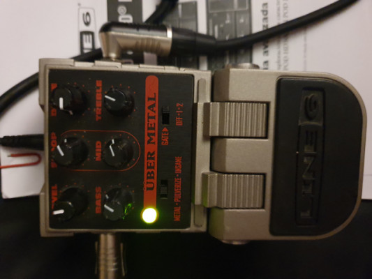 CAMBIO / line6 uber metal tone core pedal de distorsion RESERVADO!!!