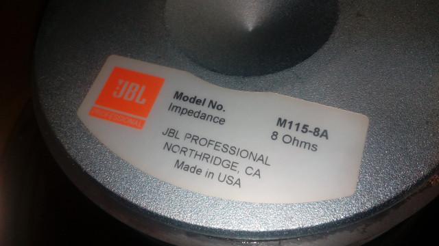 Altavoz JBL M115-8A 8 Ohm Funciona